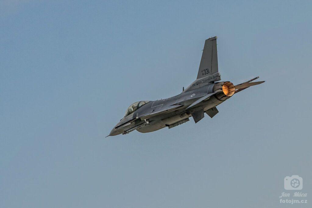 Texas Air National Guard F-16 na cvičení Sky Avenger 2018 - letiště Čáslav